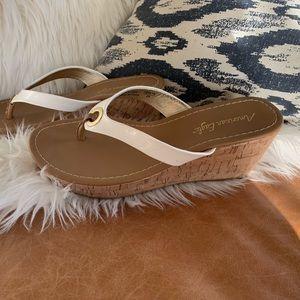 Shoes - Sandal Cork Wedges Sz 8
